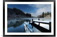 Loch Ard in Winter, Framed Mounted Print