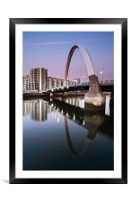 Clyde Arc Sunset, Framed Mounted Print