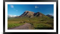 Lagangarbh Hut and Buachaille Etive Mor, Framed Mounted Print