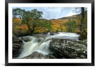 Waterfall in the Scottish Highlands, Framed Mounted Print
