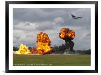 Bombing Run, Framed Mounted Print