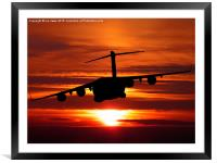 Coming home, Framed Mounted Print