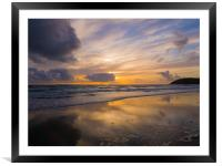 The storm is coming, Framed Mounted Print