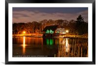 The Lakeside by night, Framed Mounted Print