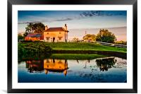 Coffee stop sunset, Framed Mounted Print