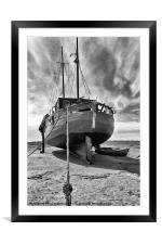 Old Fishing Boat, Framed Mounted Print