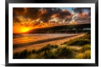 Saunton Sands North Devon, Framed Mounted Print