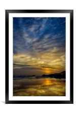 Coombesgate Beach, Framed Mounted Print
