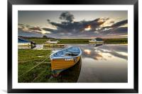 Old salmon Boat, Framed Mounted Print