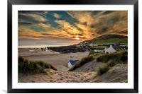 Croyde Bay Sunset, Framed Mounted Print