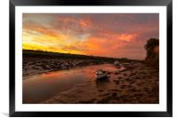 Braunton Pill Sunrise, Framed Mounted Print