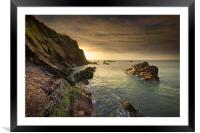North Devon Coastline at Ilfracombe., Framed Mounted Print