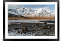 Bla Bheinn( Blaven) in the Snow, Framed Mounted Print