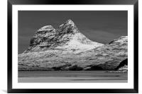 Suilven with Winter Snow, Framed Mounted Print