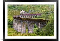 The Jacobite Steam train on the Glenfinnan Viaduct, Framed Mounted Print
