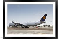 Lufthansa Airbus A340 D-AIHO, Framed Mounted Print