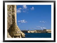 Ruins and Fort Ricasoli, Framed Mounted Print