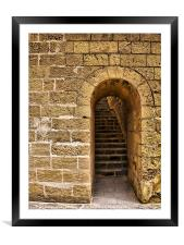 Castle Doorway, Framed Mounted Print