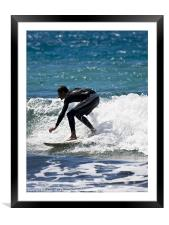 Catching The Waves, Framed Mounted Print