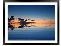 Clouds Over Water, Framed Mounted Print