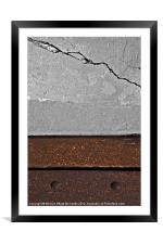 Iron & Concrete, Framed Mounted Print