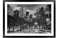 nyc city line from central park, Framed Mounted Print