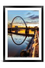 Clyde Arc Squinty Bridge, Framed Mounted Print