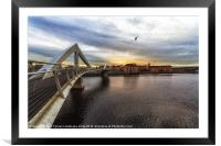 The Squiggly Bridge, Framed Mounted Print
