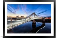 Squiggly Bridge Glasgow, Framed Mounted Print