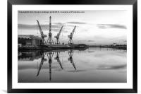 Cranes on the Clyde, Framed Mounted Print