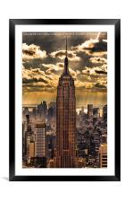 Empire state building, Framed Mounted Print