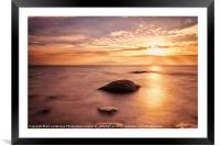 Over the sea to Arran, Framed Mounted Print