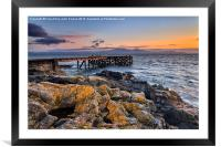 Portencross and Arran Jetty, Framed Mounted Print