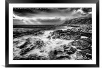 When the west wind blows, Framed Mounted Print