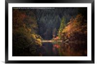 Loch Ard in Autumn, Framed Mounted Print
