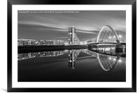 Glasgow by night, Framed Mounted Print