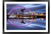 Clyde Arc Glasgow, Framed Mounted Print