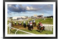Horse Racing at Downpatrick, Framed Mounted Print