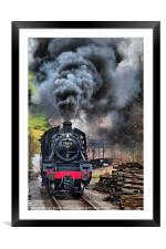 78019 Steam Train In Motion, Framed Mounted Print