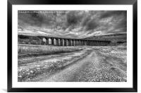Road to Ribblehead mono , Framed Mounted Print
