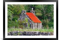 Neglected Old Croft, Framed Mounted Print