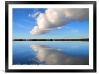 Fluffy Cloud over Hanningfield, Framed Mounted Print