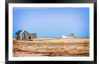 Dungeness Old Boat, Framed Mounted Print