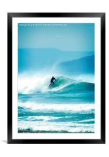 Surfing , Framed Mounted Print