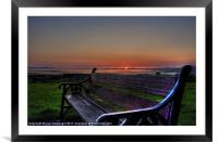 Lonely Bench, Framed Mounted Print