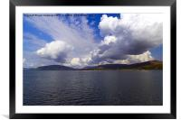 cloudy day, Framed Mounted Print
