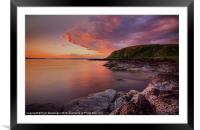 Portencross Sunset, Framed Mounted Print
