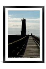 the boardwalk, Framed Mounted Print