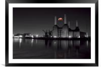 Battersea and Pig, Framed Mounted Print