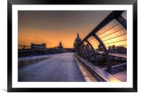 St Pauls at Sunset, Framed Mounted Print